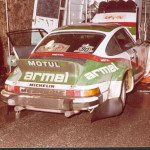 Bernard Beguin - Jean-Jacques Lenne, Porsche 911 SC, accidentd
