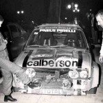Jean-Claude Andruet - ''Biche'', Fiat 131 Abarth, accidentg