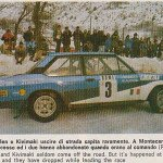Markku Alen - Ilkka Kivimaki, Fiat 131 Abarth, accidents